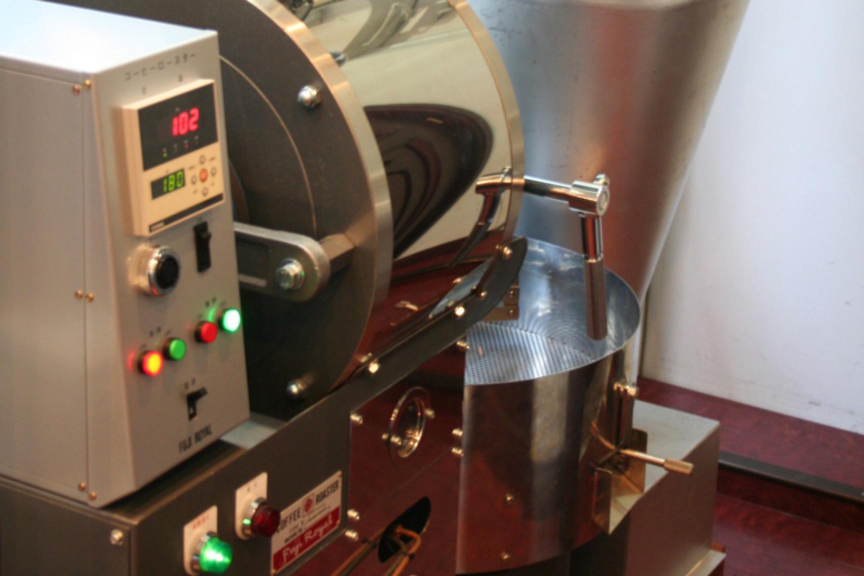 コーヒーの焙煎工程